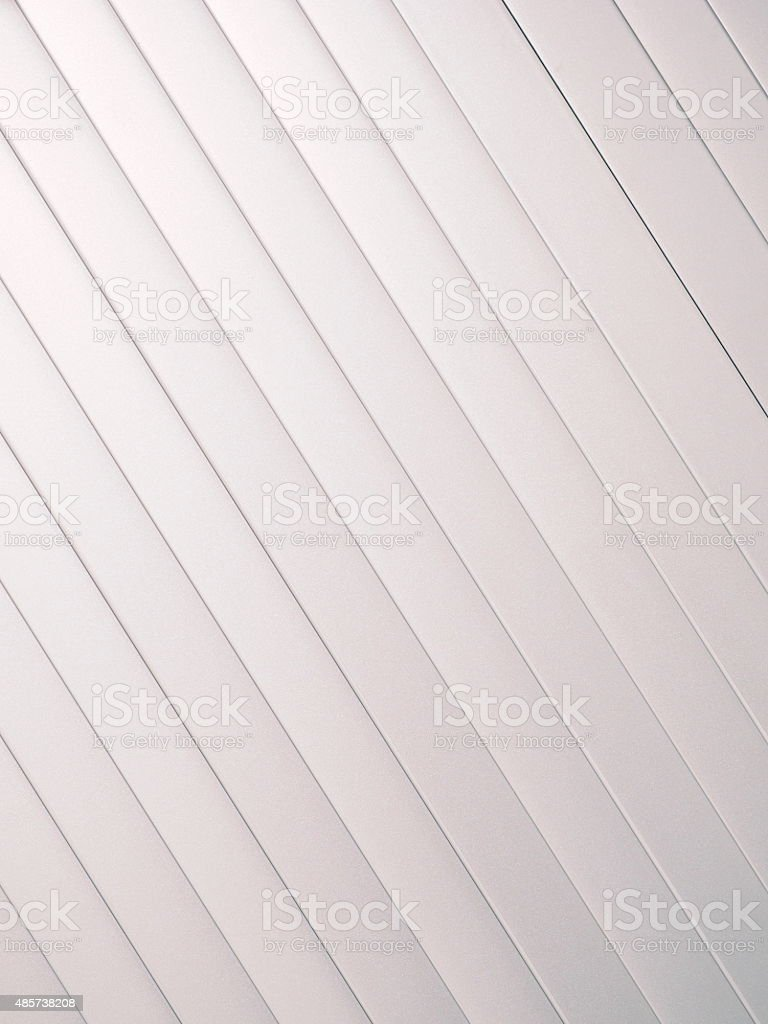 Silver slat background angled up left stock photo
