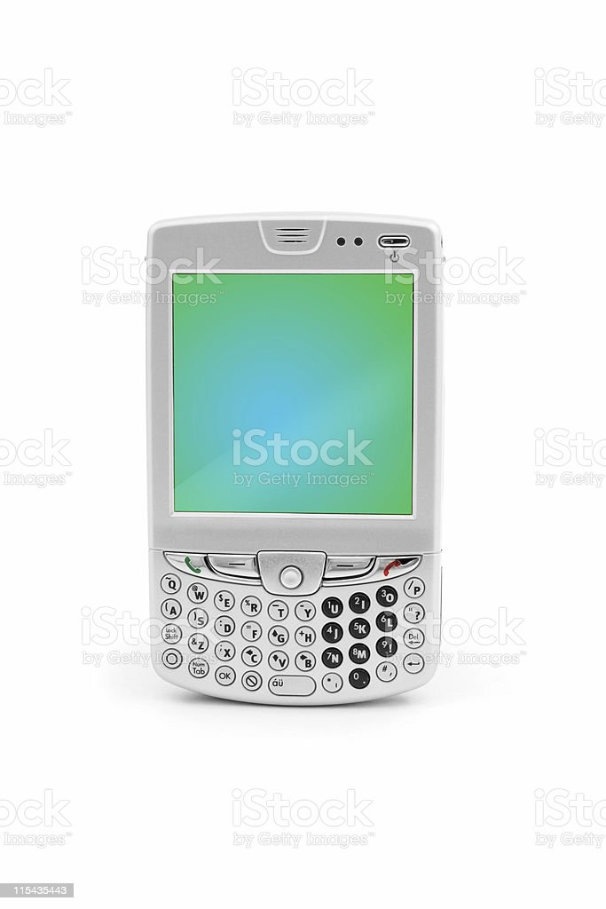 Silver Smart Phone royalty-free stock photo