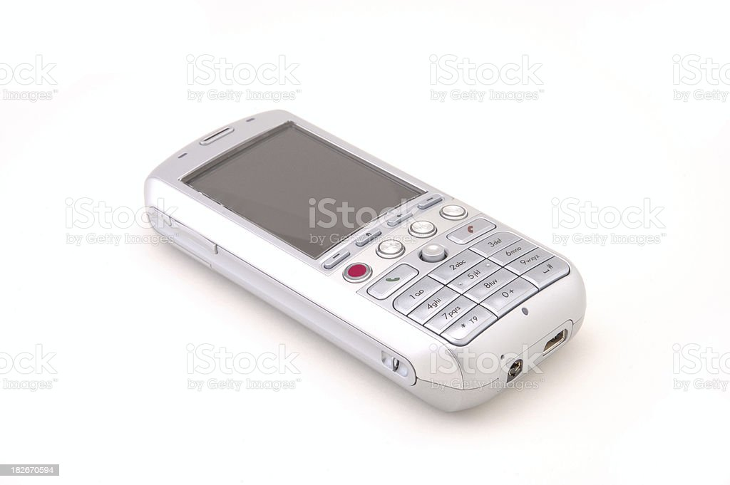 Silver Smartphone royalty-free stock photo