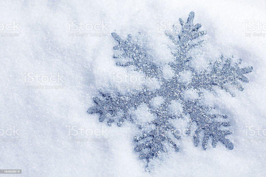 Silver Snowflake stock photo