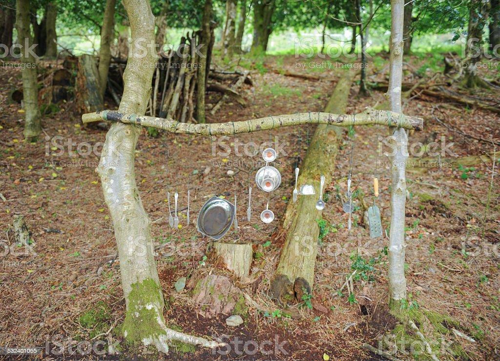 Silver Sounds Trail in the Woods, Drewsteignton, Devon, England, UK stock photo
