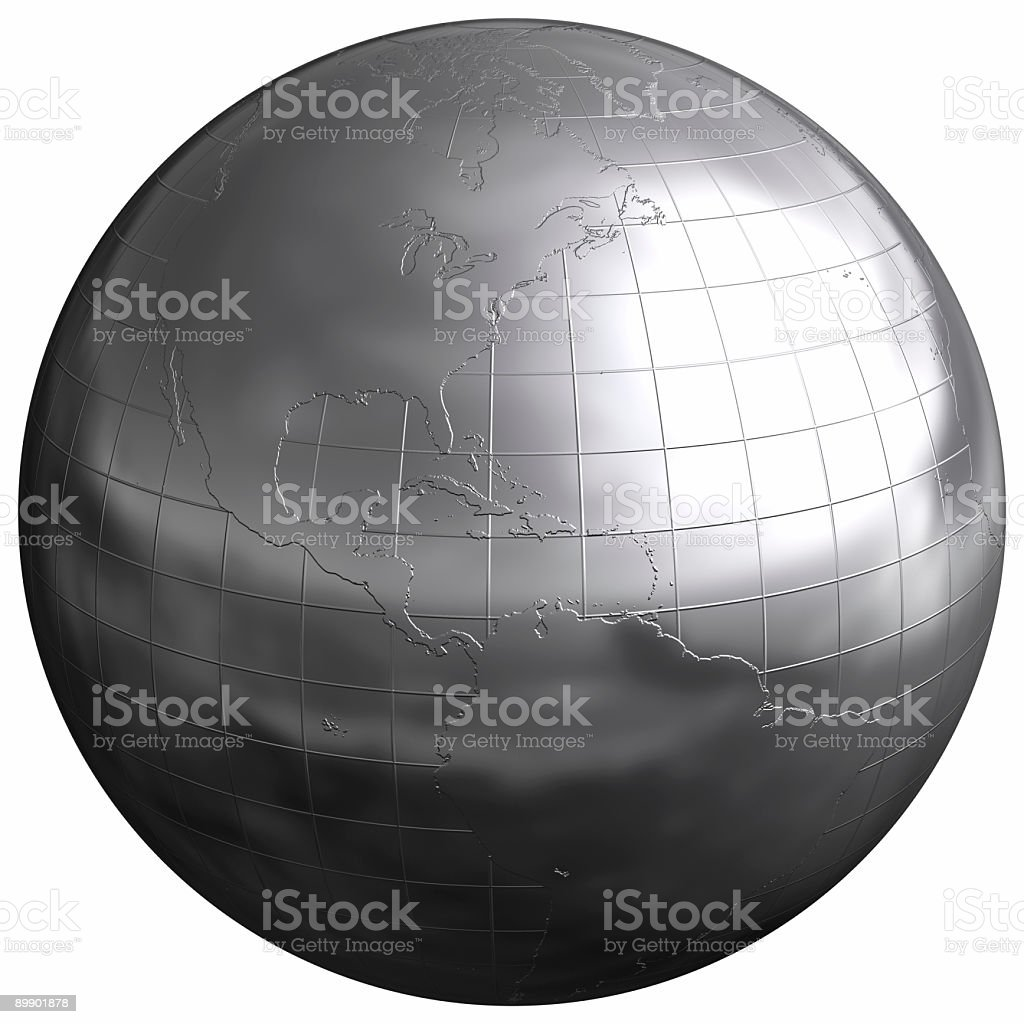Silver Sphere [Central America] royalty-free stock photo