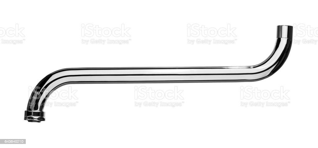 Silver spout tap stock photo