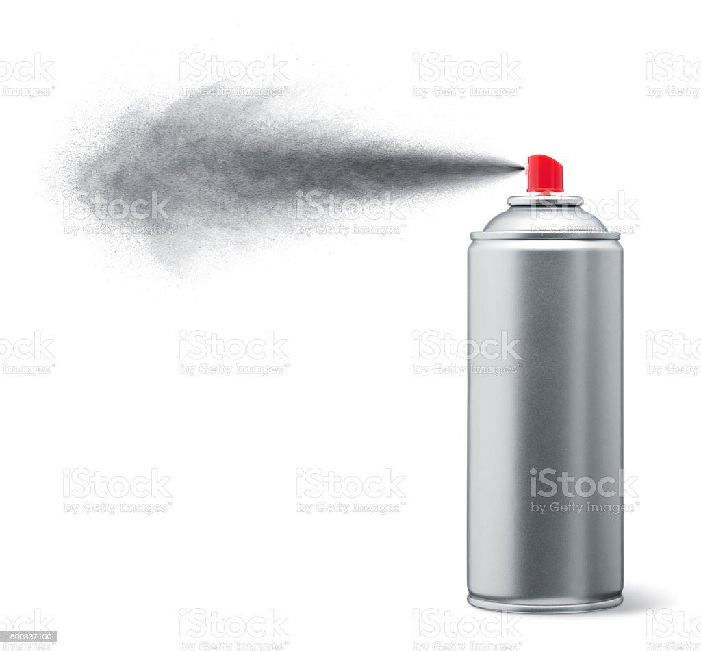 silver spray paint stock photo