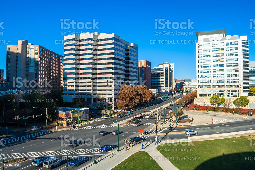 Silver Spring downtown view stock photo