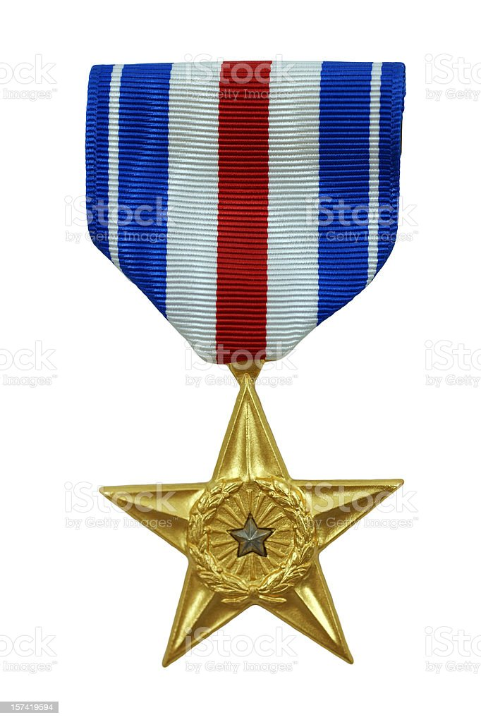 Silver Star Medal stock photo