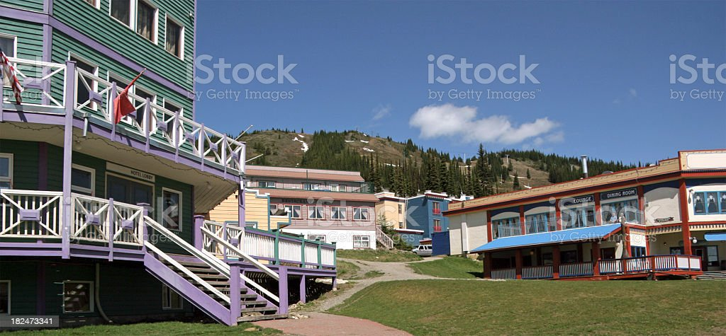 Silver Star Village Vernon British Columbia stock photo