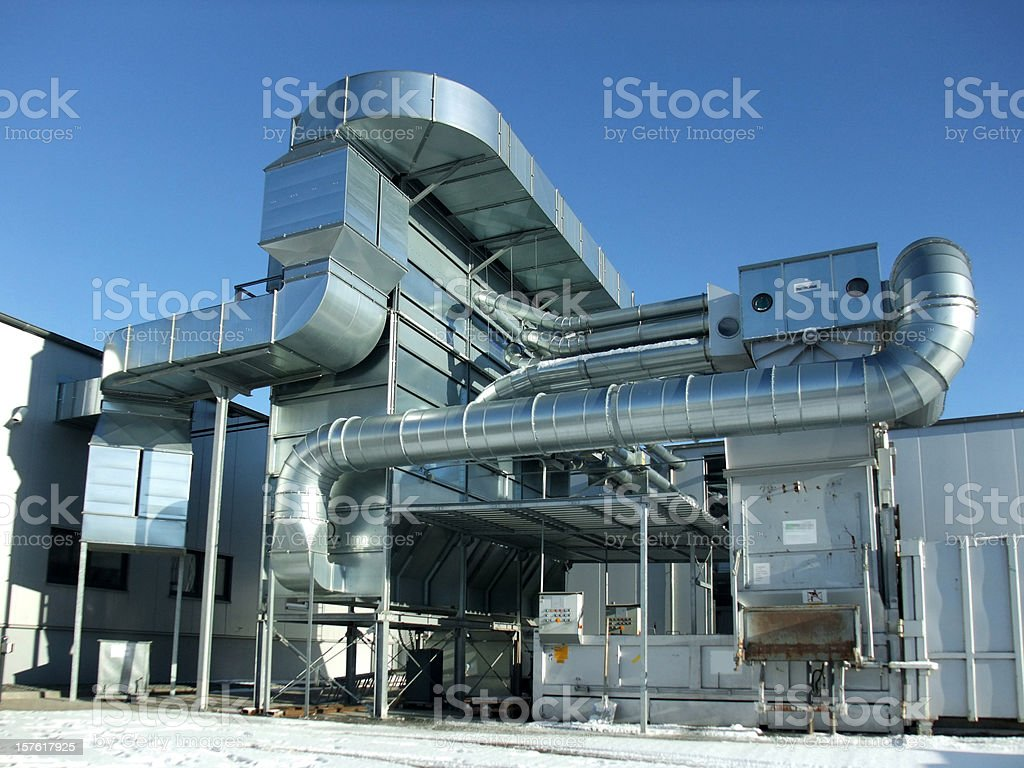 Silver Steel Machine royalty-free stock photo