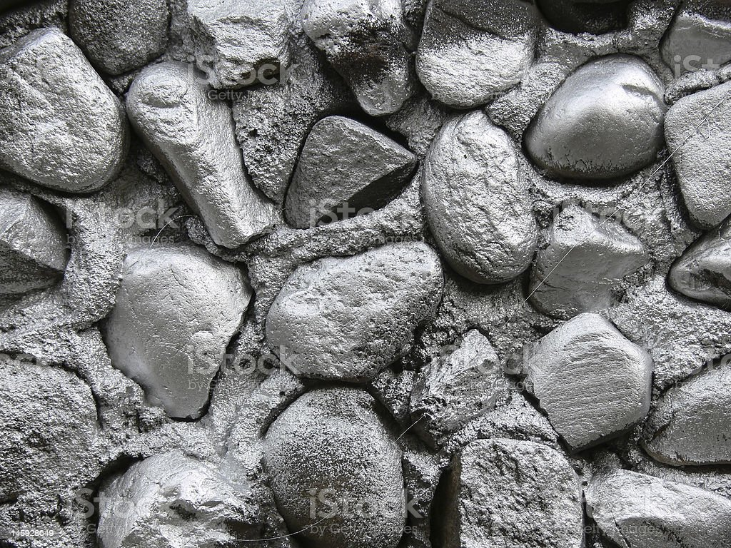 Silver stone wall background royalty-free stock photo