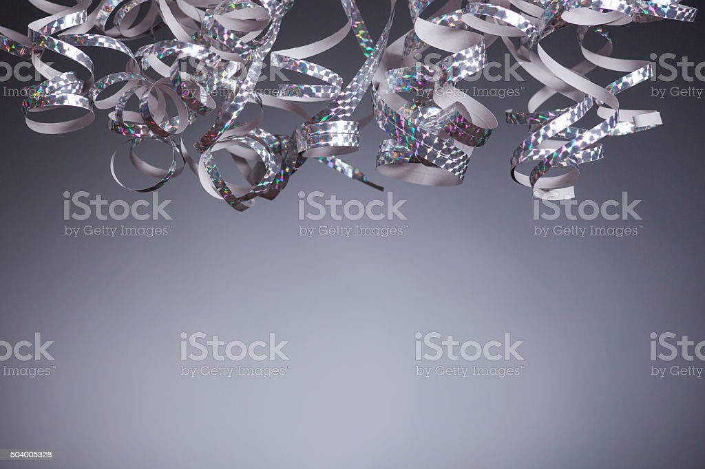 Silver Streamers stock photo