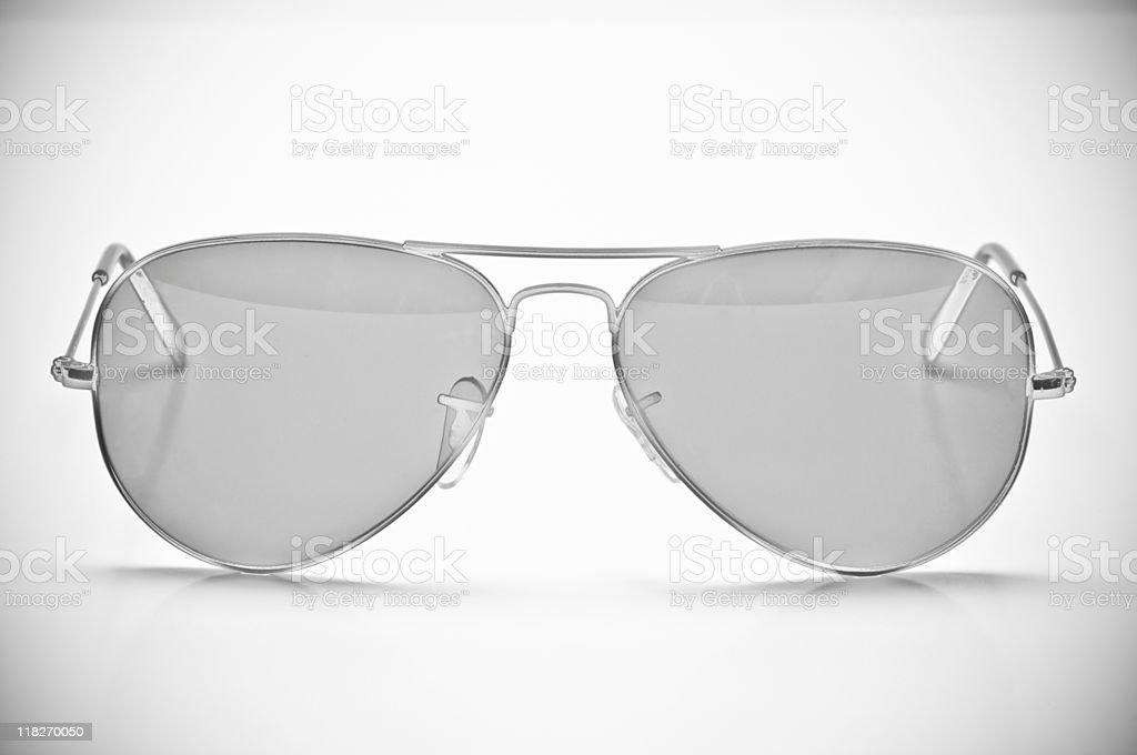 Silver Sunglasses stock photo