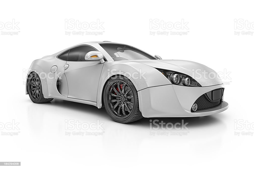 silver supercar royalty-free stock photo