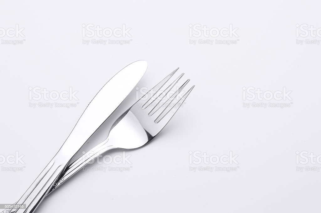 Silver Tableware stock photo