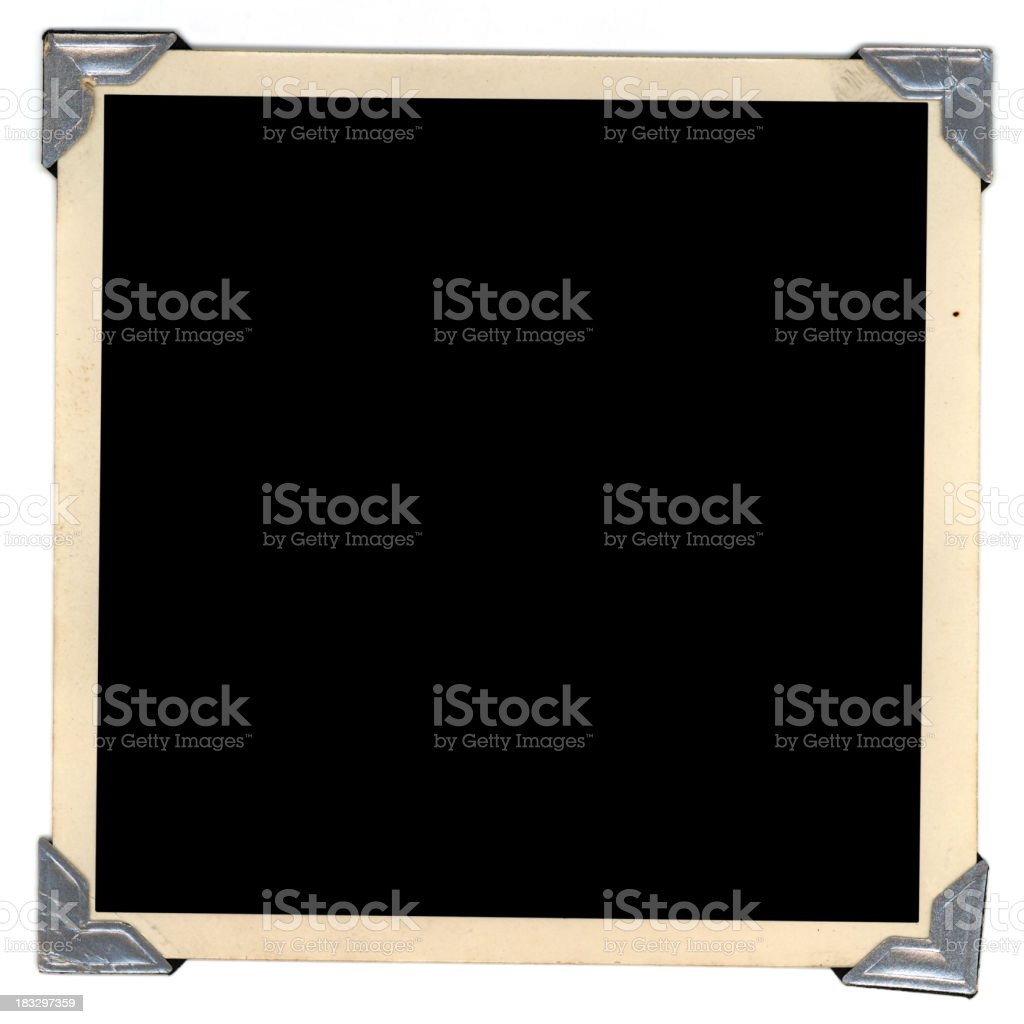 silver tabs frame royalty-free stock photo