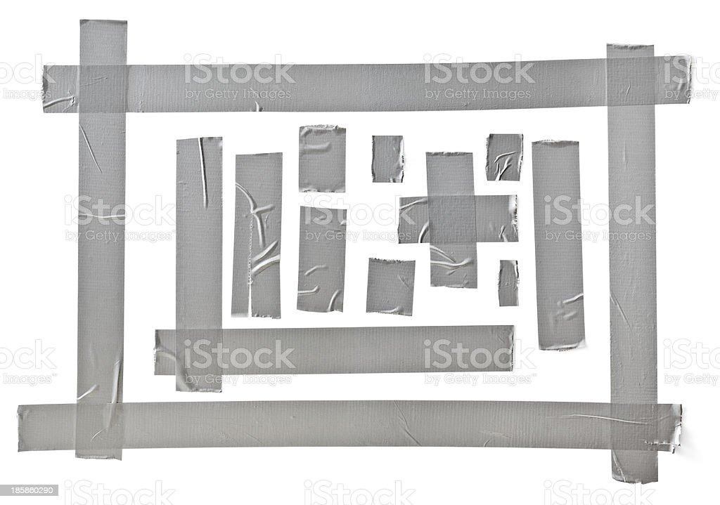 silver tape stock photo