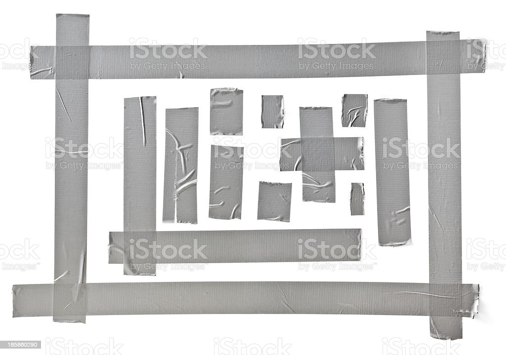 silver tape stock photo