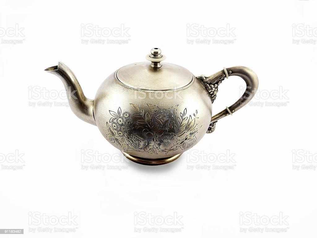 Silver teapot royalty-free stock photo