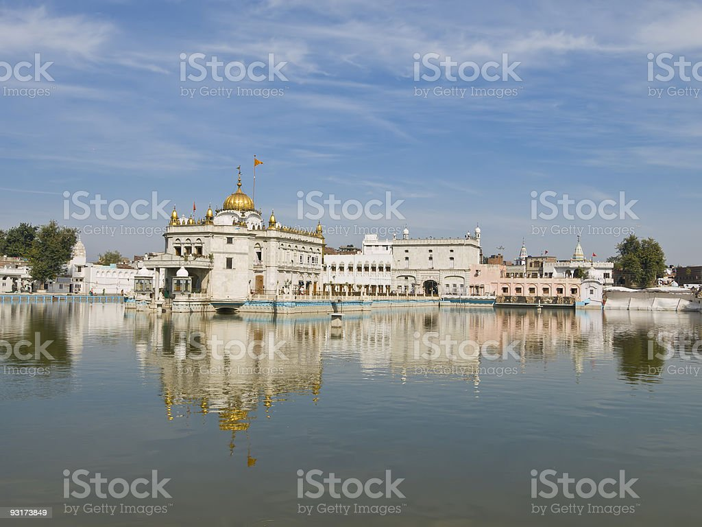 Silver Temple Amritsar stock photo