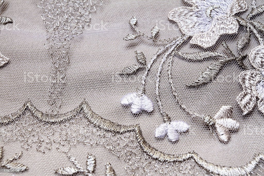 Silver textile royalty-free stock photo