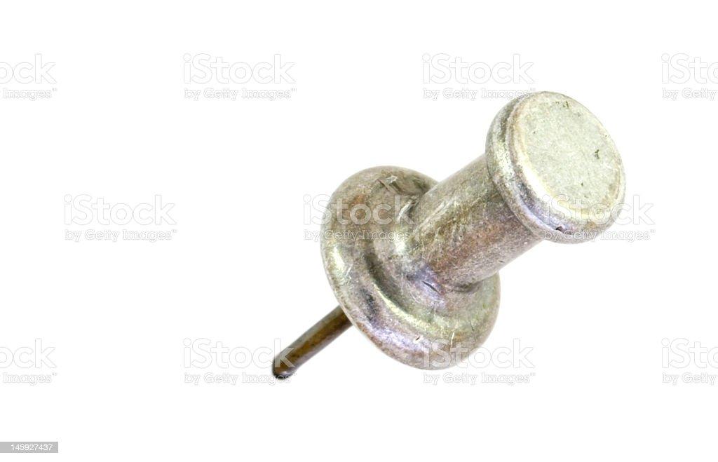 Silver Thumbtack stock photo