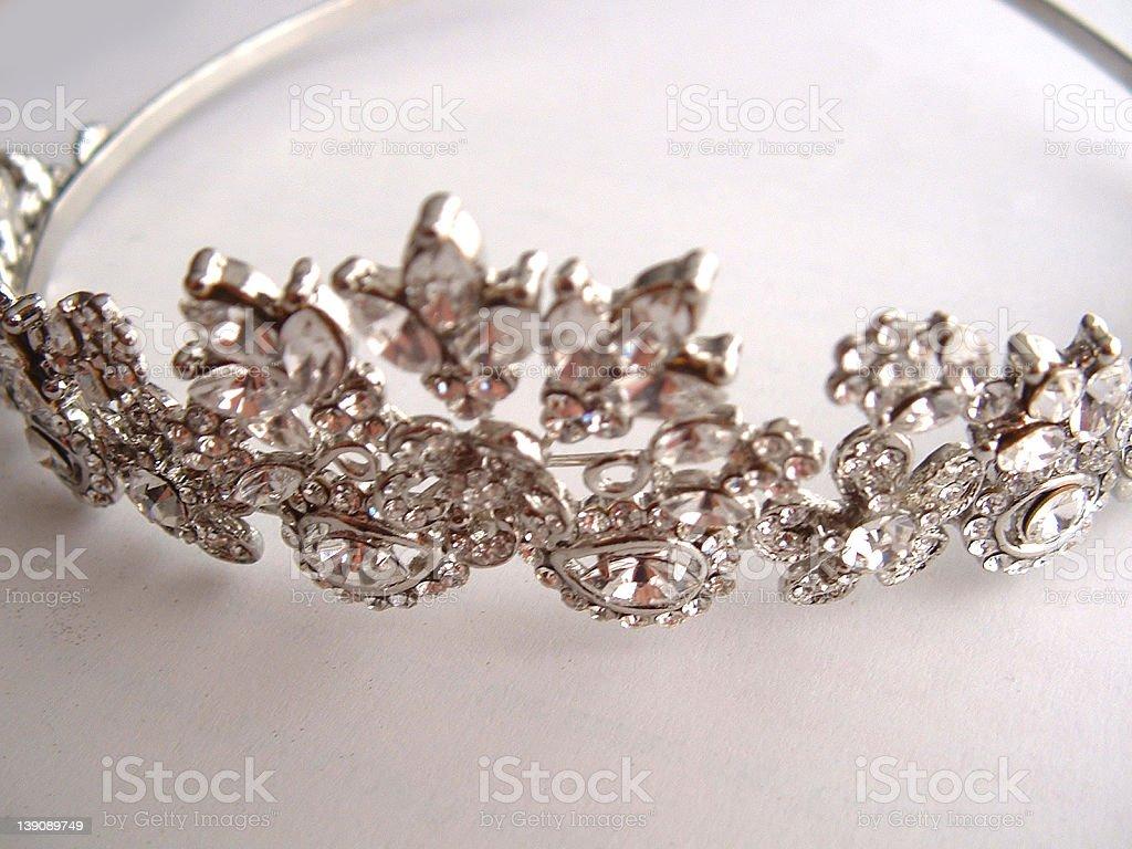 Silver Tiara royalty-free stock photo