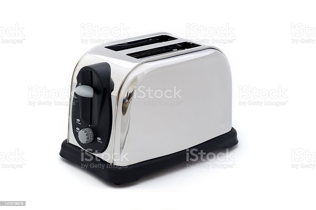 silver toaster stock photo