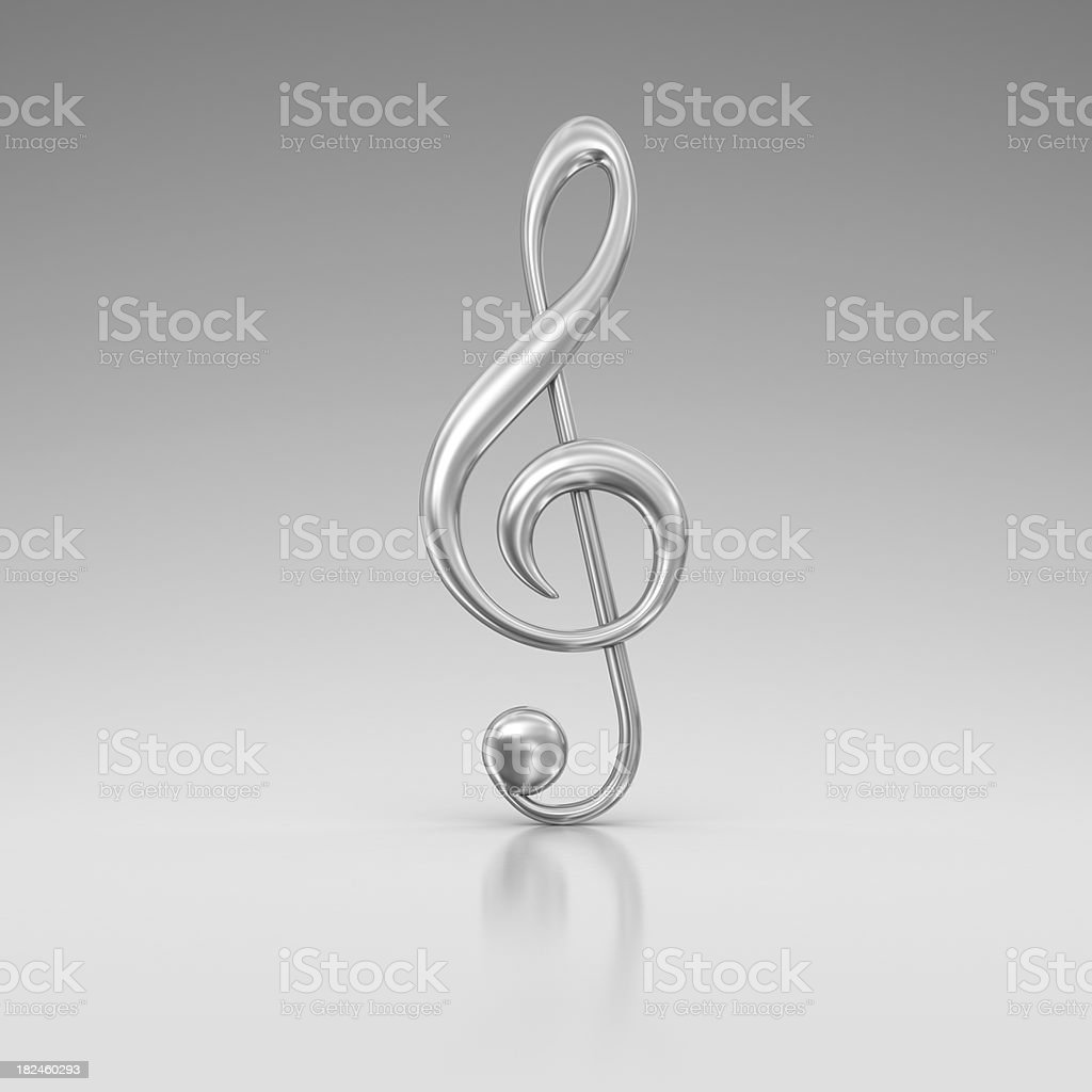 silver treble clef royalty-free stock photo