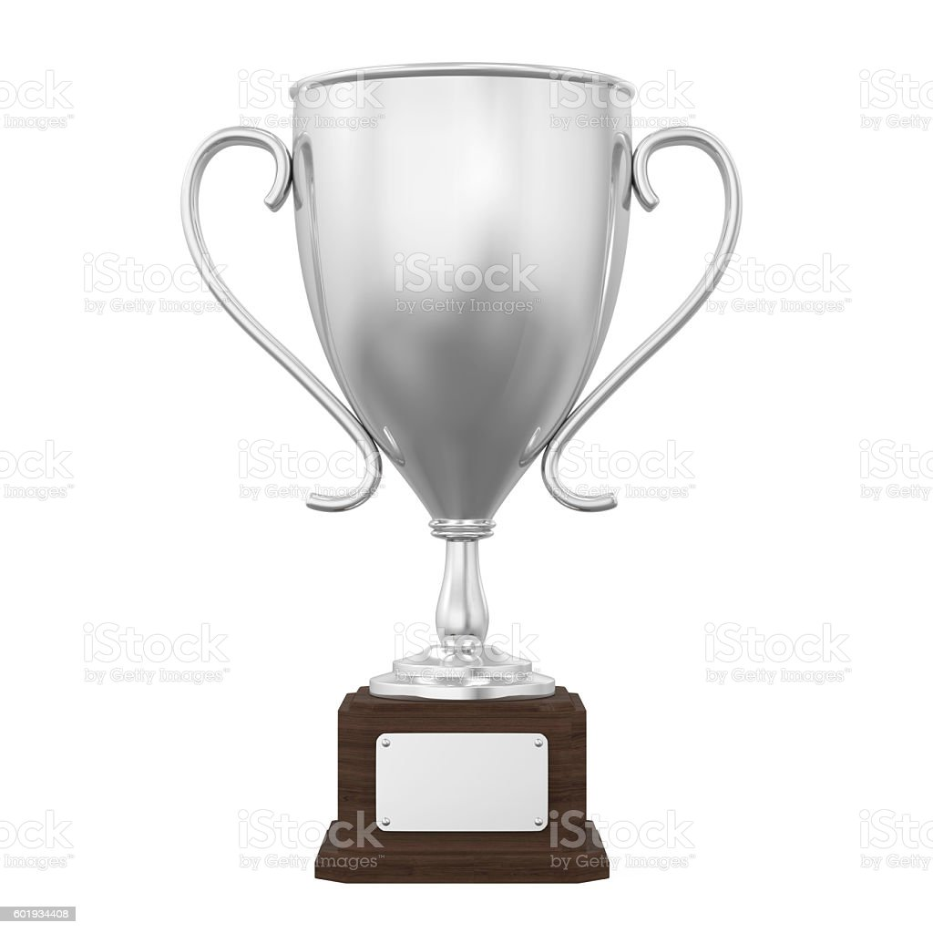 Silver Trophy Cup stock photo