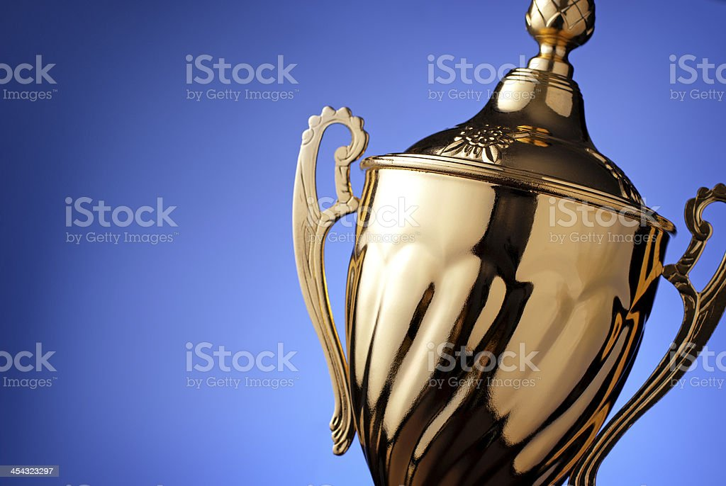 Silver trophy prize stock photo