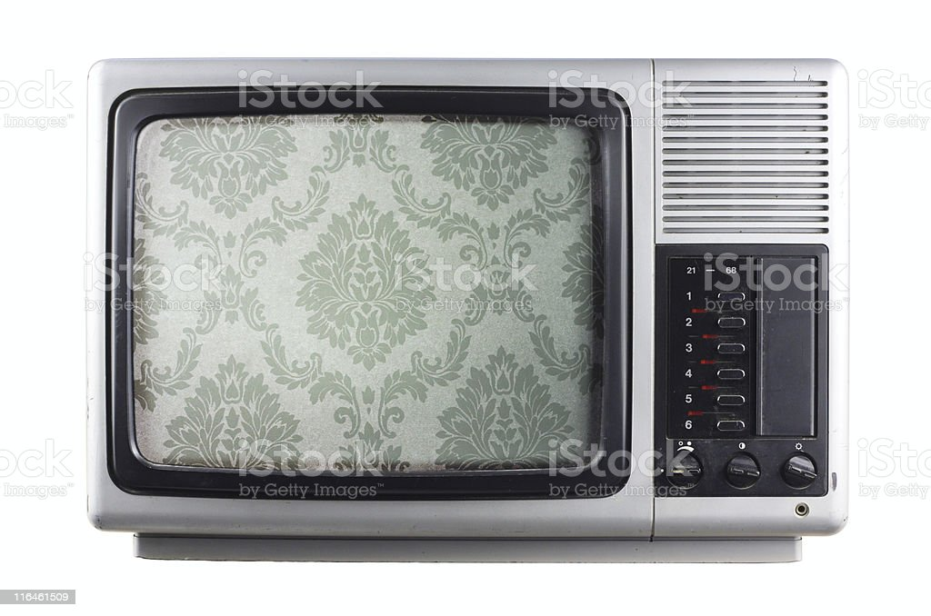 silver tv royalty-free stock photo