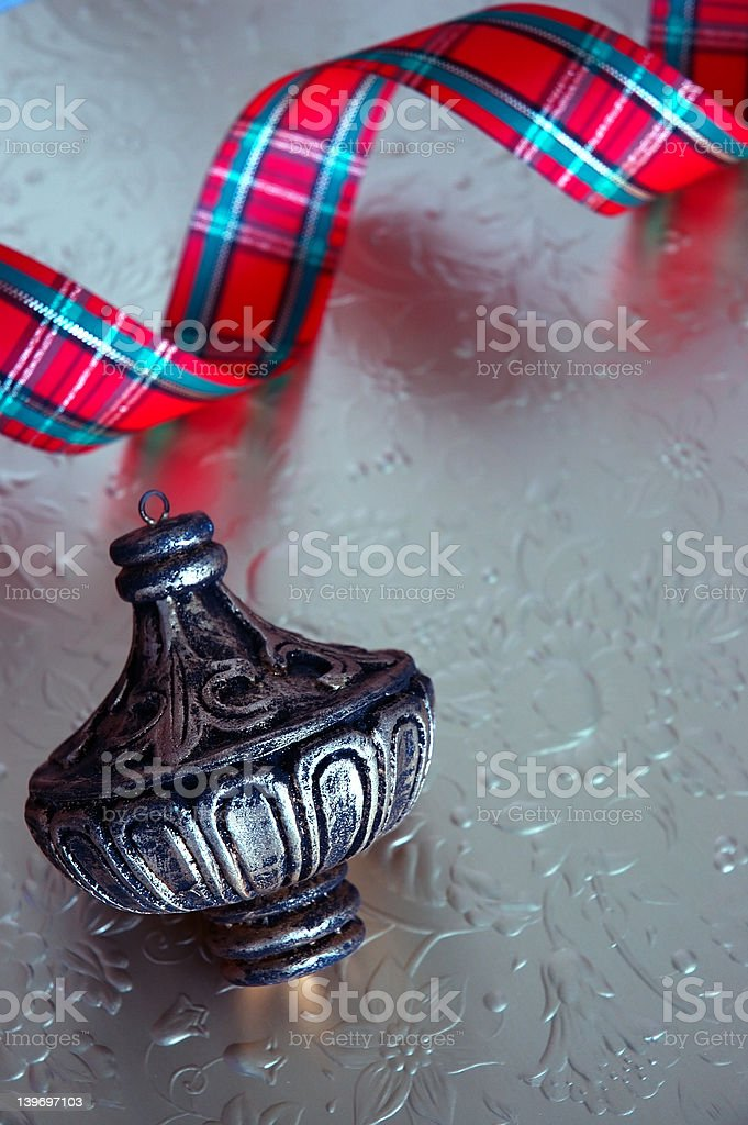 Silver Vintage Christmas royalty-free stock photo