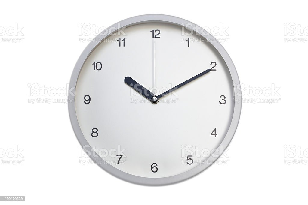Silver wall clock royalty-free stock photo