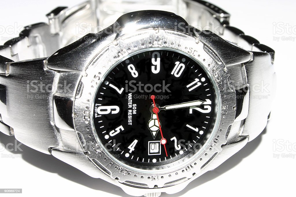Silver Watch royalty-free stock photo
