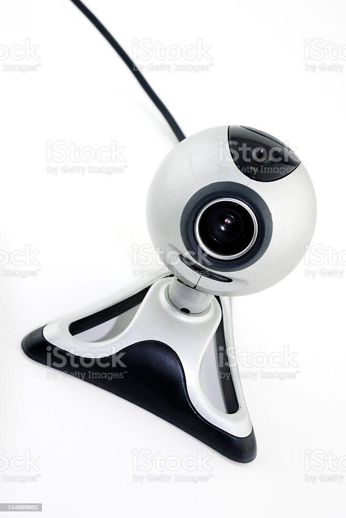 Silver webcam stock photo