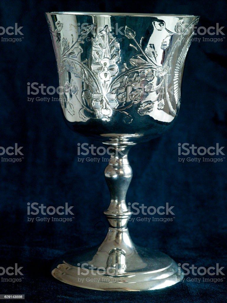 Silver wine-glass stock photo