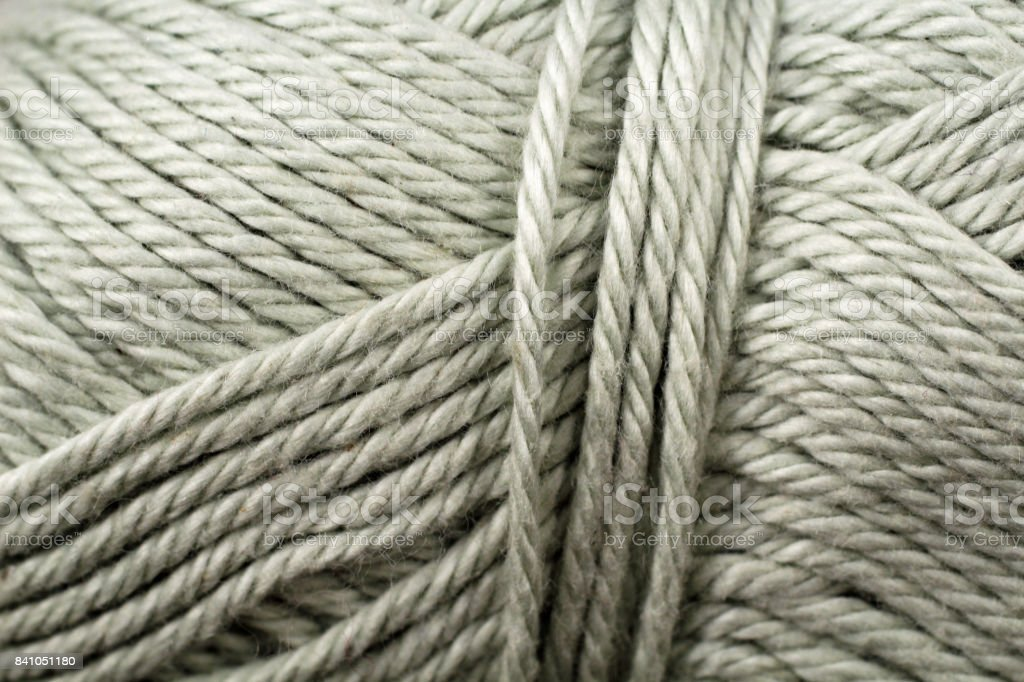 Silver Yarn Texture Close Up stock photo