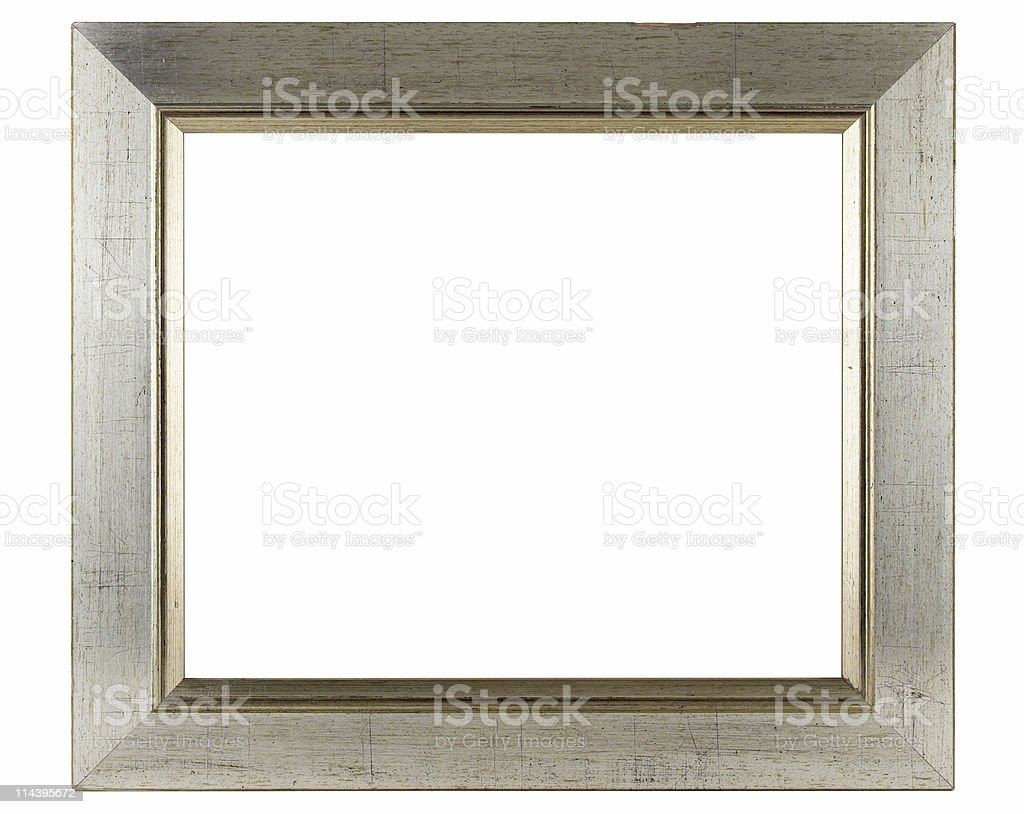 Silvered Wooden Frame royalty-free stock photo