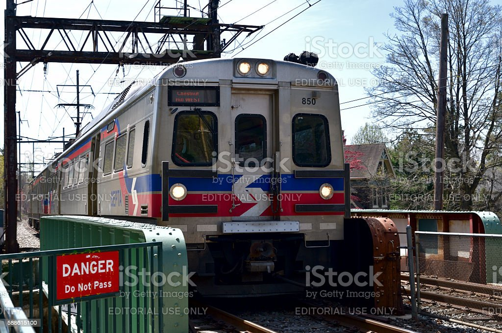 SEPTA Silverliner V In Philadelphia, PA stock photo