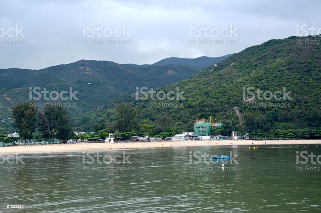 Silvermine beach, Lantau Island Hong Kong stock photo