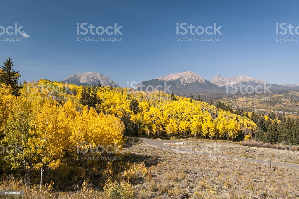 Silverthorne, Colorado in the Fall royalty-free stock photo