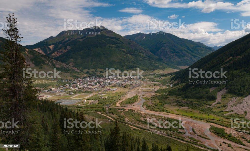 Silverton, Colorado and surrounding area stock photo