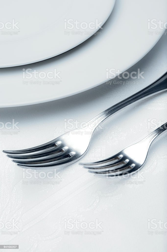 silverware - closeup of forks royalty-free stock photo