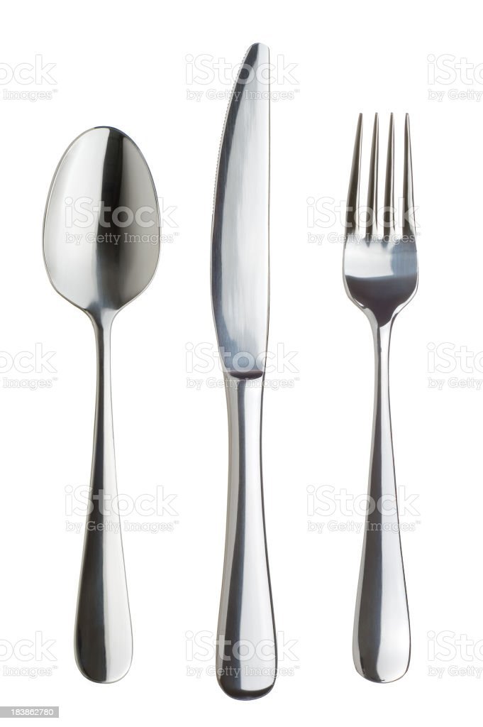 Silverware Set royalty-free stock photo