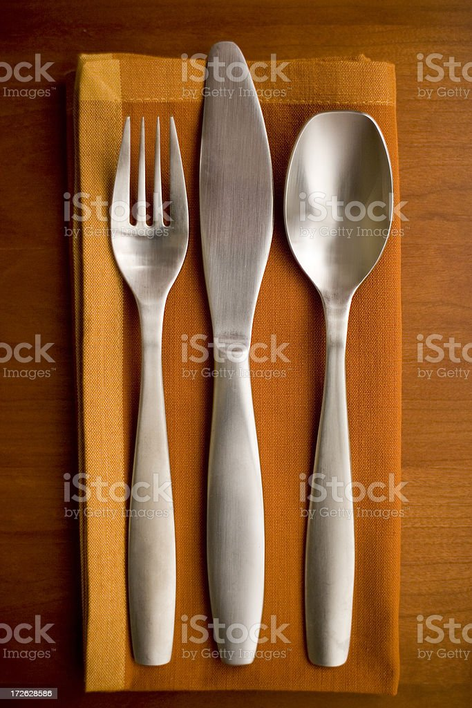 Silverware Setting royalty-free stock photo