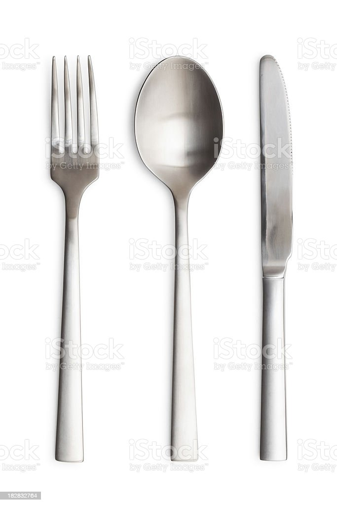 Silverware Setting. stock photo