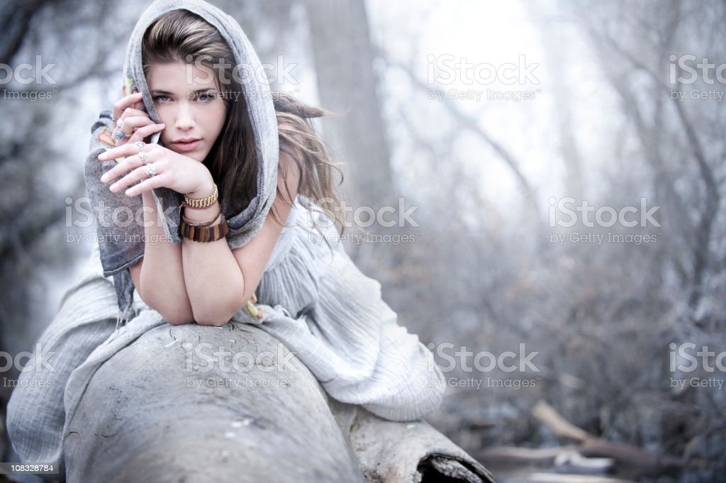 Silvery Fashion and Beauty stock photo