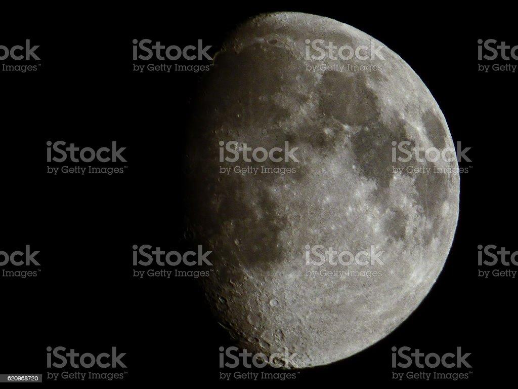 silvery moon stock photo