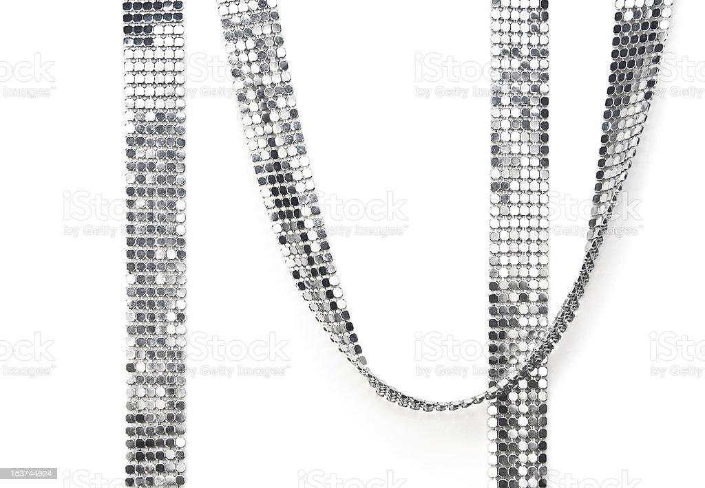 silvery tape stock photo