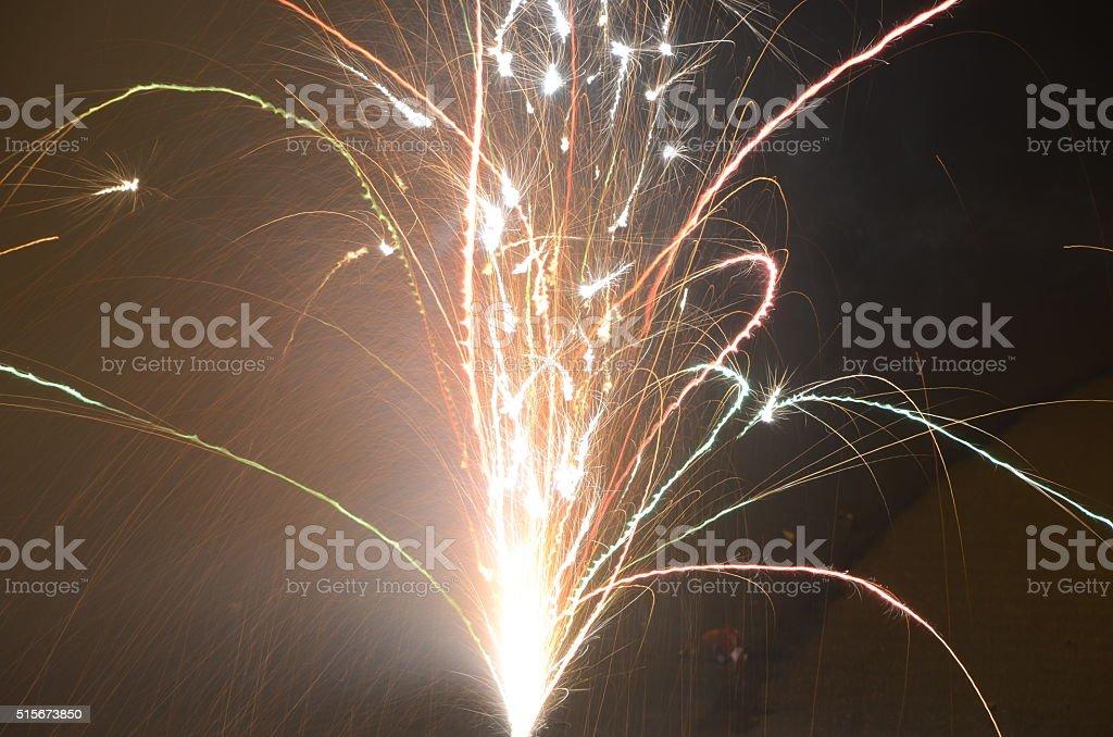 Silvesterfeuerwerk stock photo