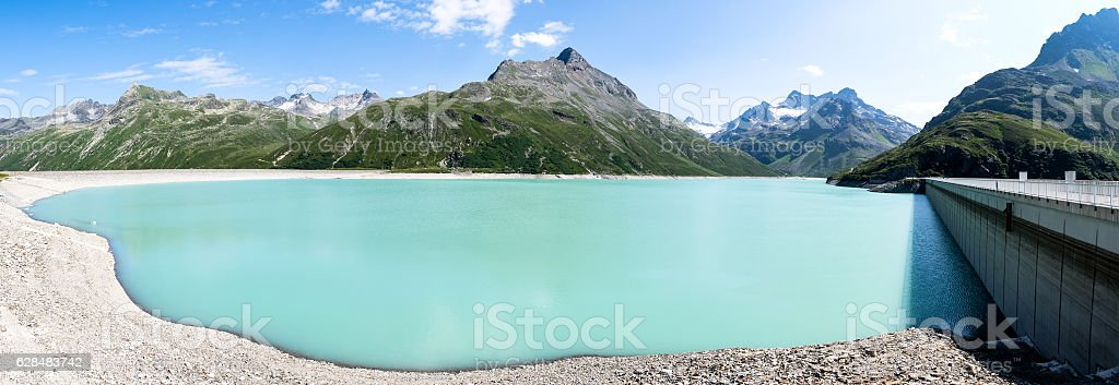 silvreta reservoir stock photo